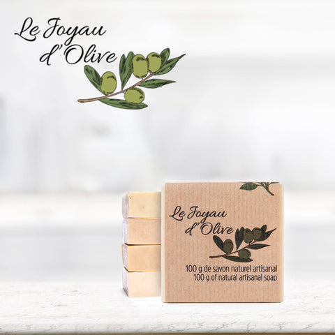 Le Joyau d'Olive Luxury Ancestral Soap, Handcrafted Artisanal Virgin Olive & Essential Oils, Gift Pack of 5 units – for Face and Body