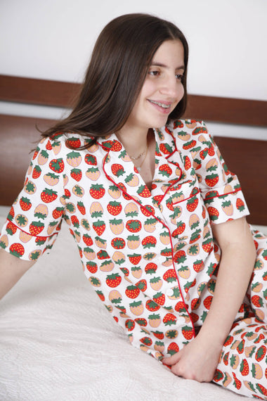 FRUIT PRINTED PAJAMAS- THE THOUSAND KNOT