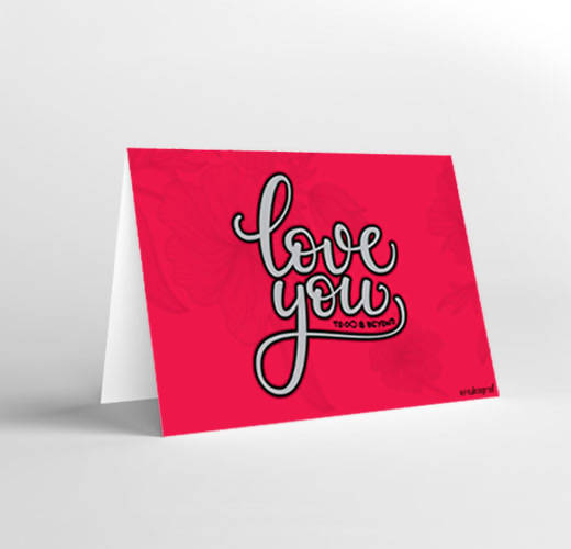 Mukagraf Love Greeting card: Love you to infinity and beyond