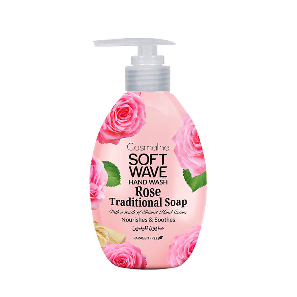 SOFTWAVE HAND WASH TRADITIONAL SOAP & ROSE - 550ml