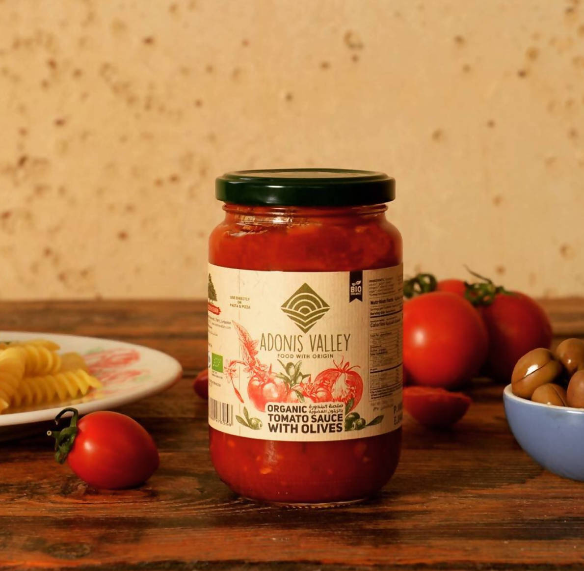 Organic Tomato Sauce with Olives