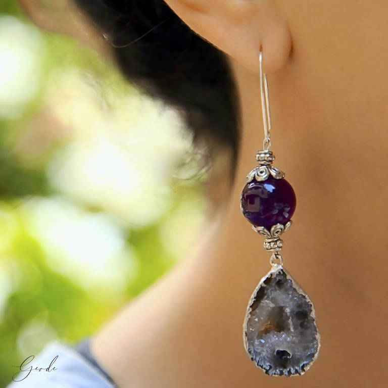Koine Earrings - Geode Gems