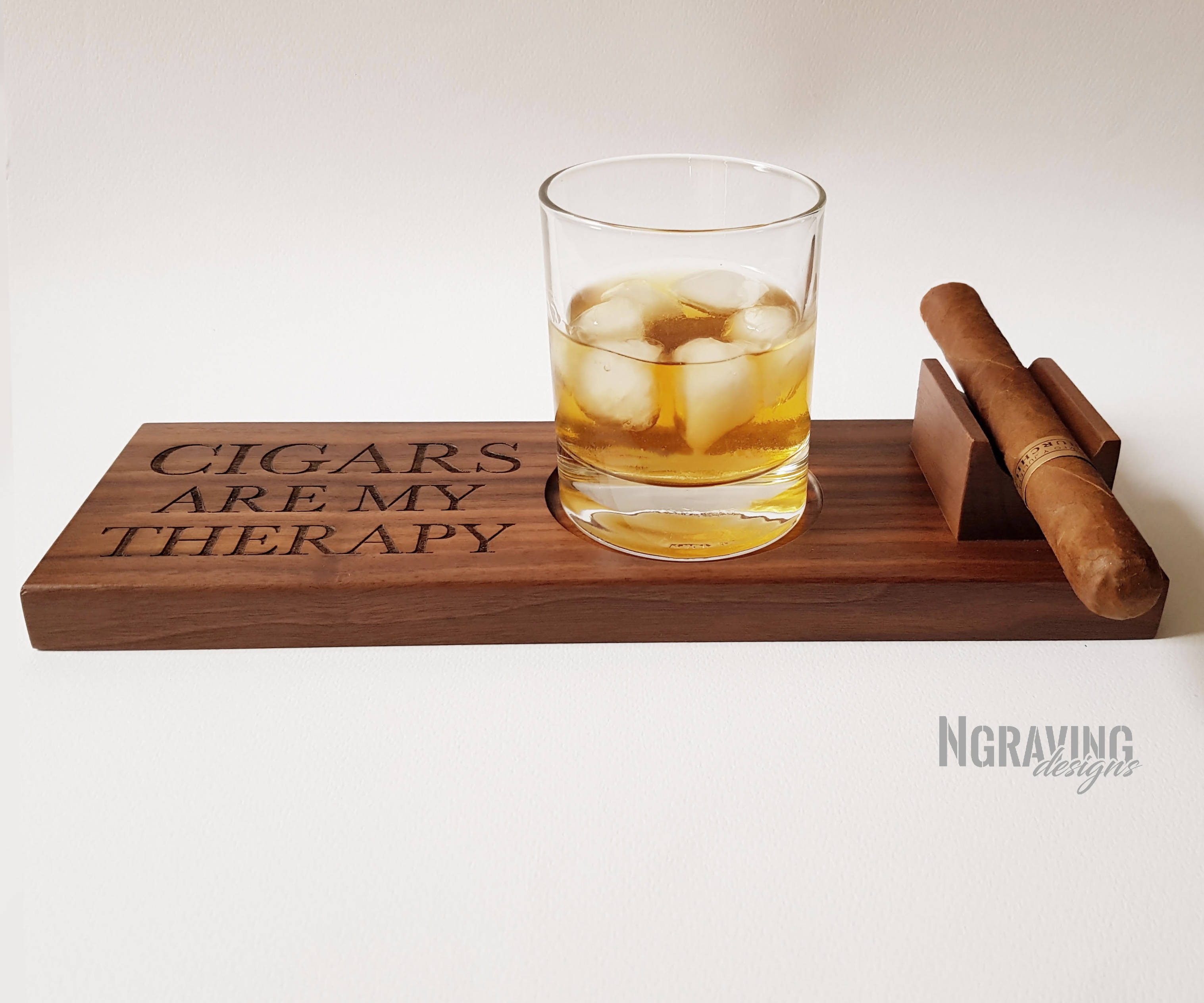 Custom-made cigar stand design.