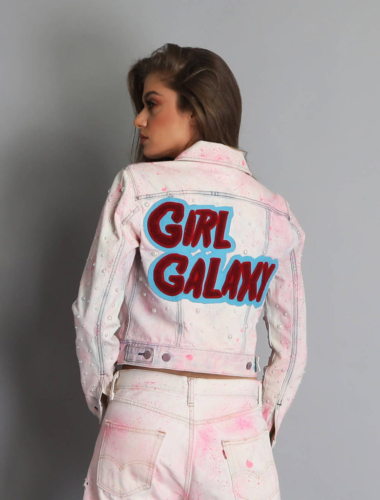 Barber Girl Galaxy Jacket - Off-White