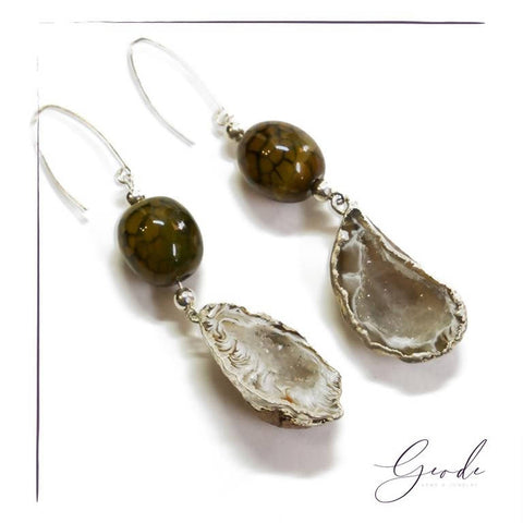 Baby Sun Earrings - Geode Gems