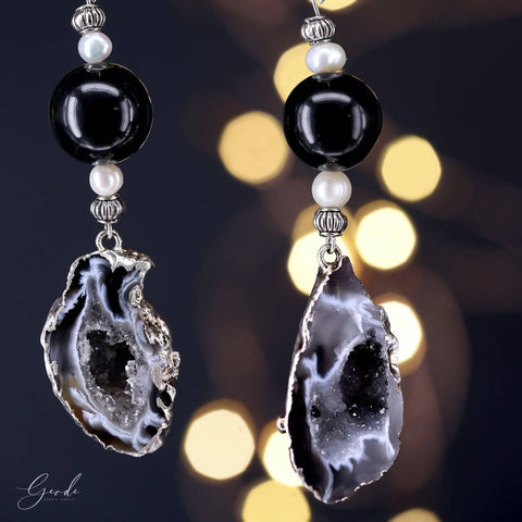 Leos Earrings - Geode Gems