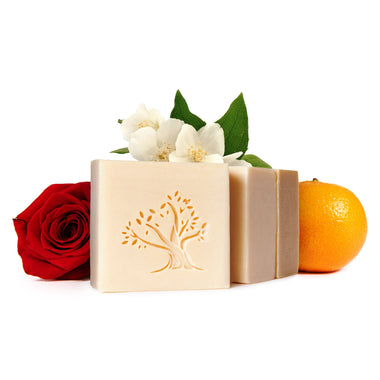 Luxury soap shampoo bath bar rose jasmine orange blossom citrus fresh