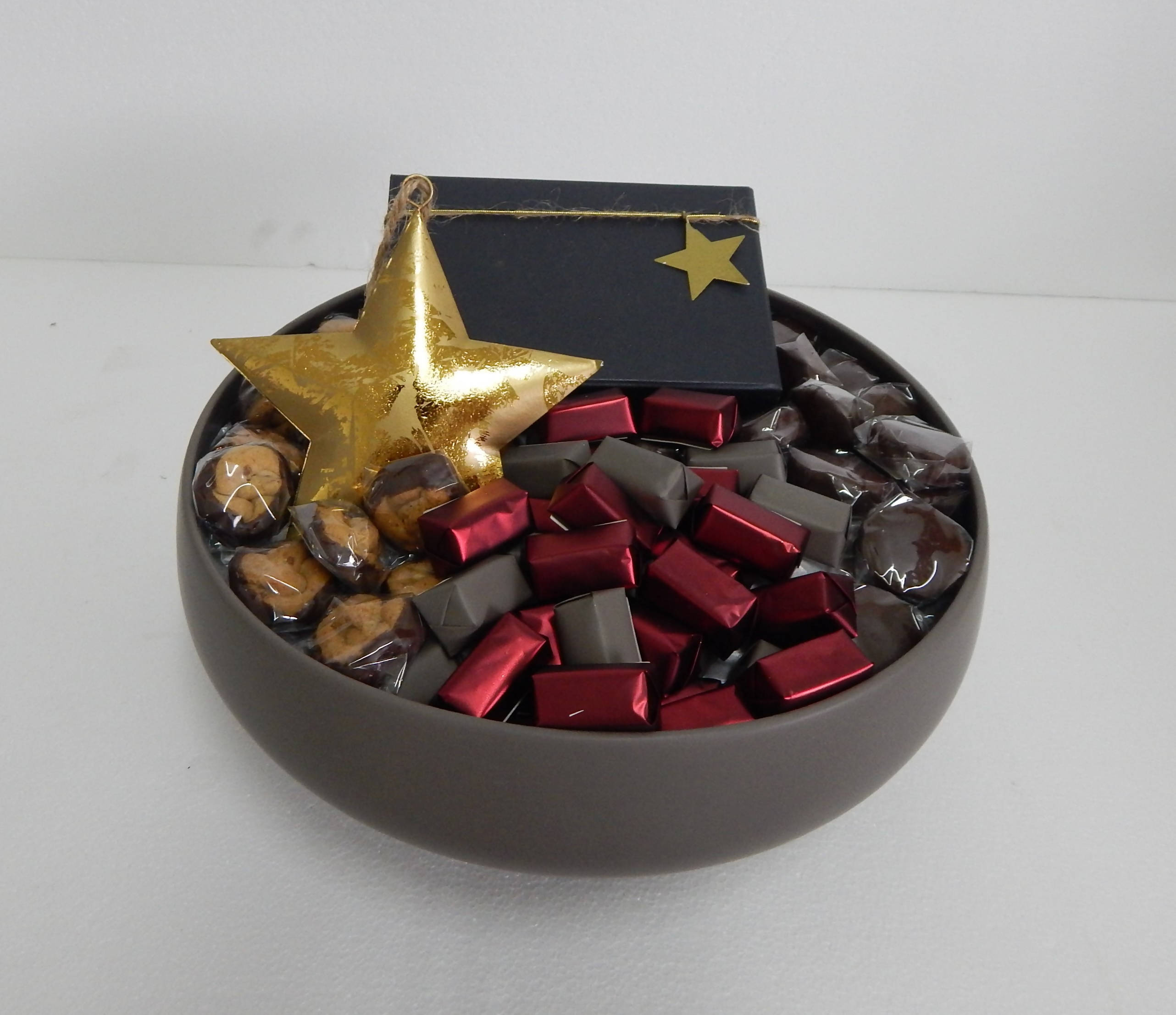 Ceramic stone bowl chocolate