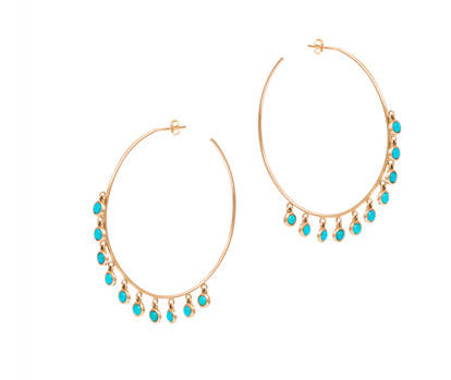 Turquoise Hoops EARRINGS