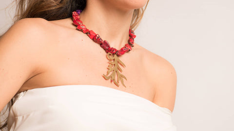 Leaf Coral Necklace by Dina B.
