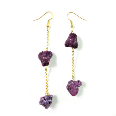 Drop Gemstones Earrings by Dina B.