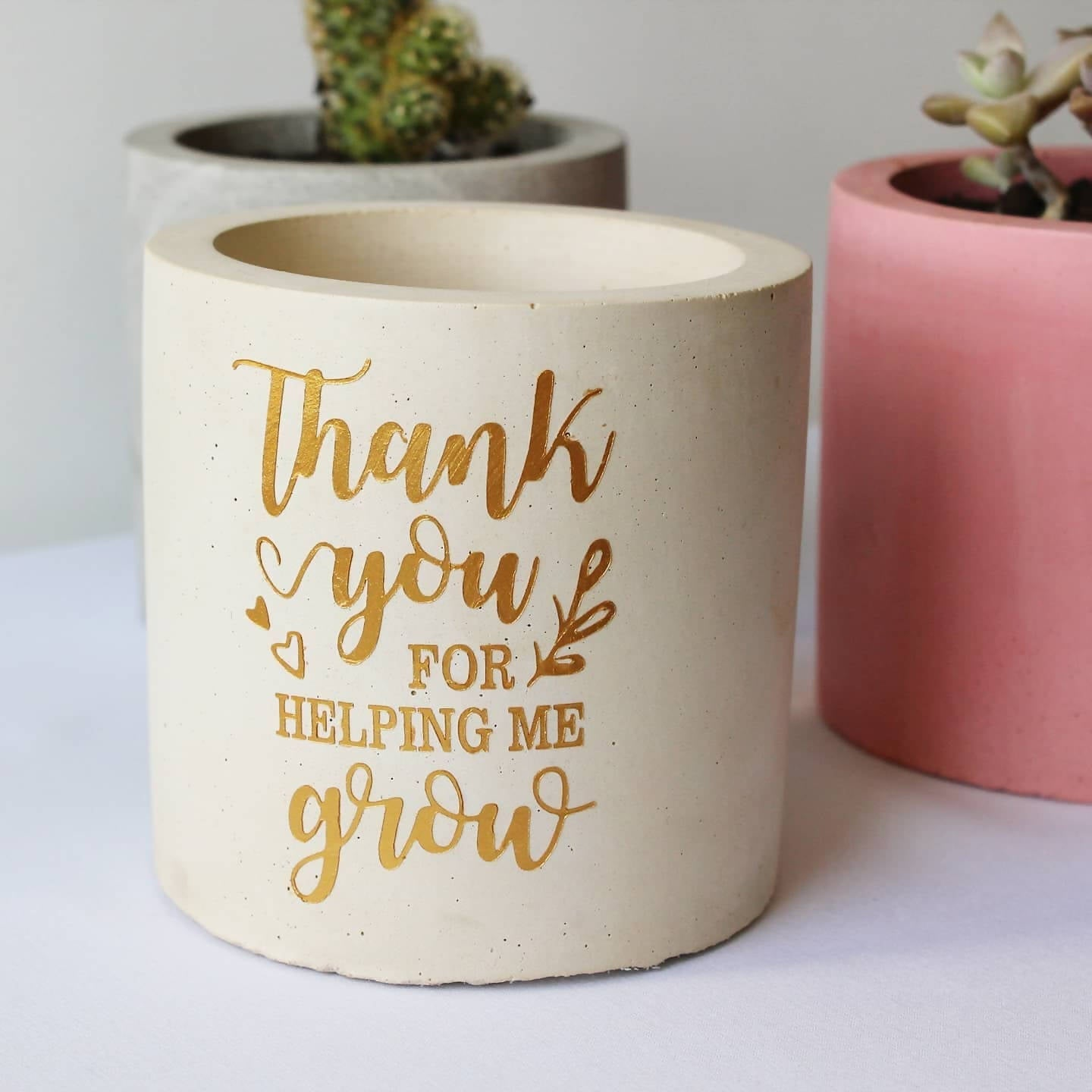 Pot with a message - small