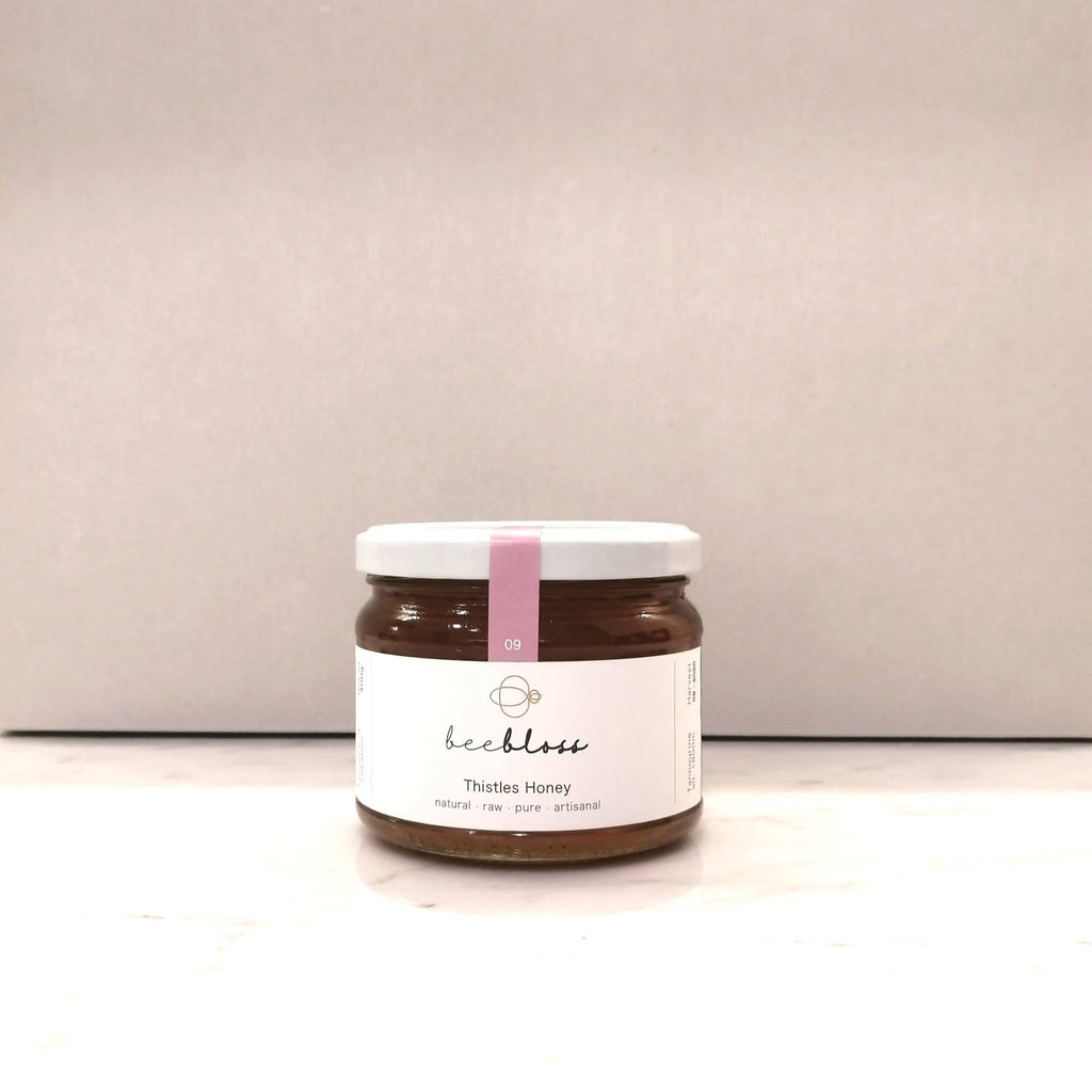 Thistles Honey 400 G (net weight) - from our apiaries in Tannourine (alt. 1800m)   Produce of Lebanon