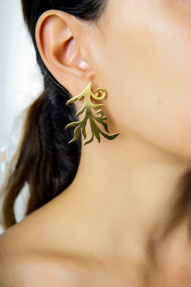 Leaf earrings by Dina B.