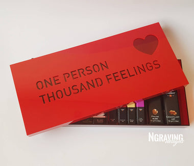 Custom-made love box design. CHOCOLATE NOT INCLUDED.