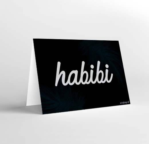 Mukagraf Love Greeting card: Habibi