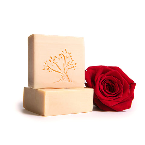 Rose water virgin olive oil handmade soap