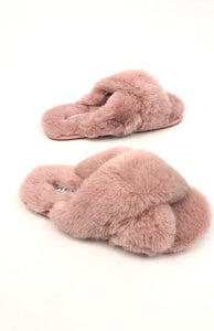 Plush slippers|Blush