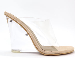 Pvc wedge|Nude