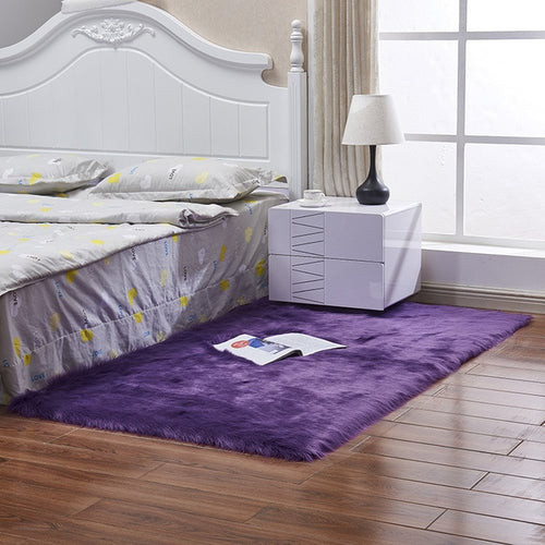 Karpet Bulu Panjang Purple