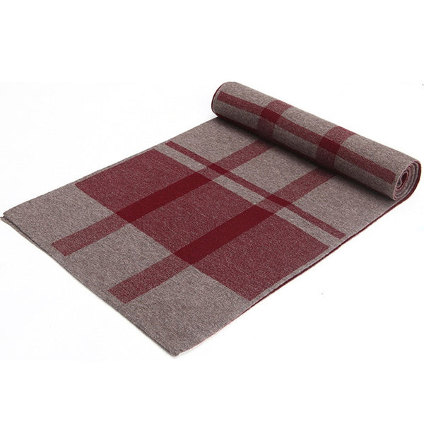 New Fashion Men Scarf Long Scarf Plaid Scarves Autumn Winter Casual Wool Scarf Men0975