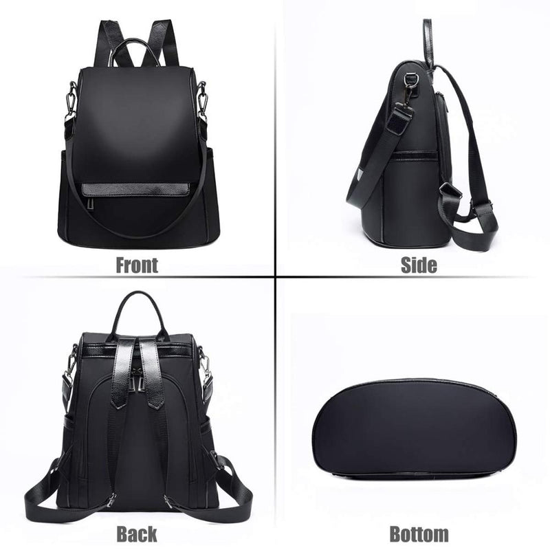 Backpack Purse for Women Anti theft Waterproof Nylon Convertible Rucksack Lightweight Fashion Travel Shoulder Bag