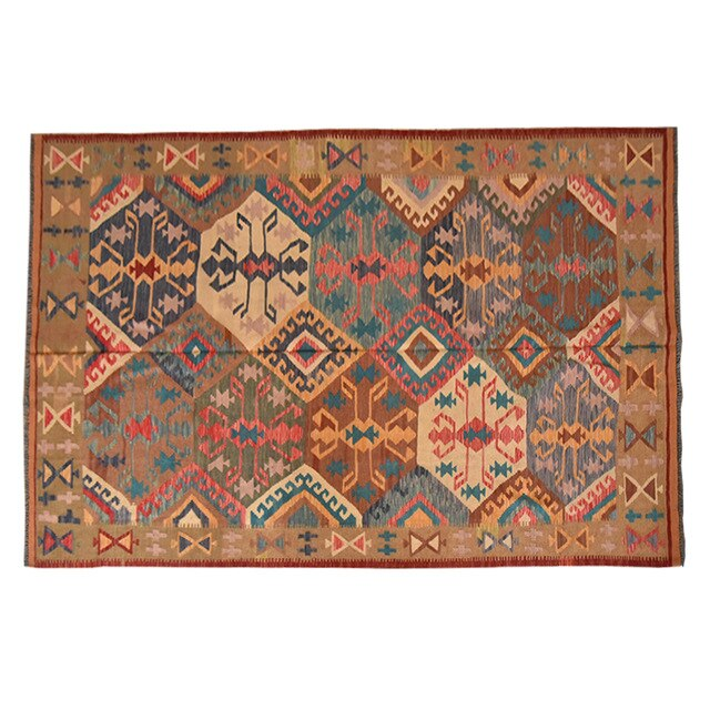 Afghanistan Turkey Tim Gauzily Carpet Northern Europe Modern Nation Amorous Feelings Geometry Wool Hand Book Carpetgc195kliyg28