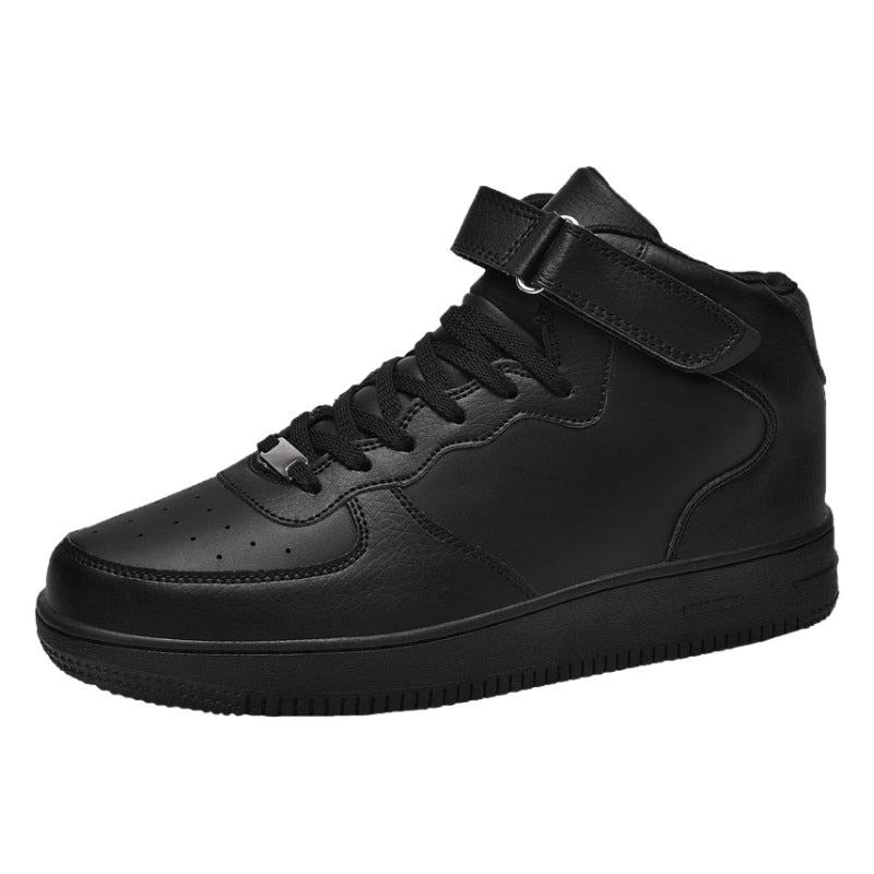 White Sneakers Men Shoes Winter Leather