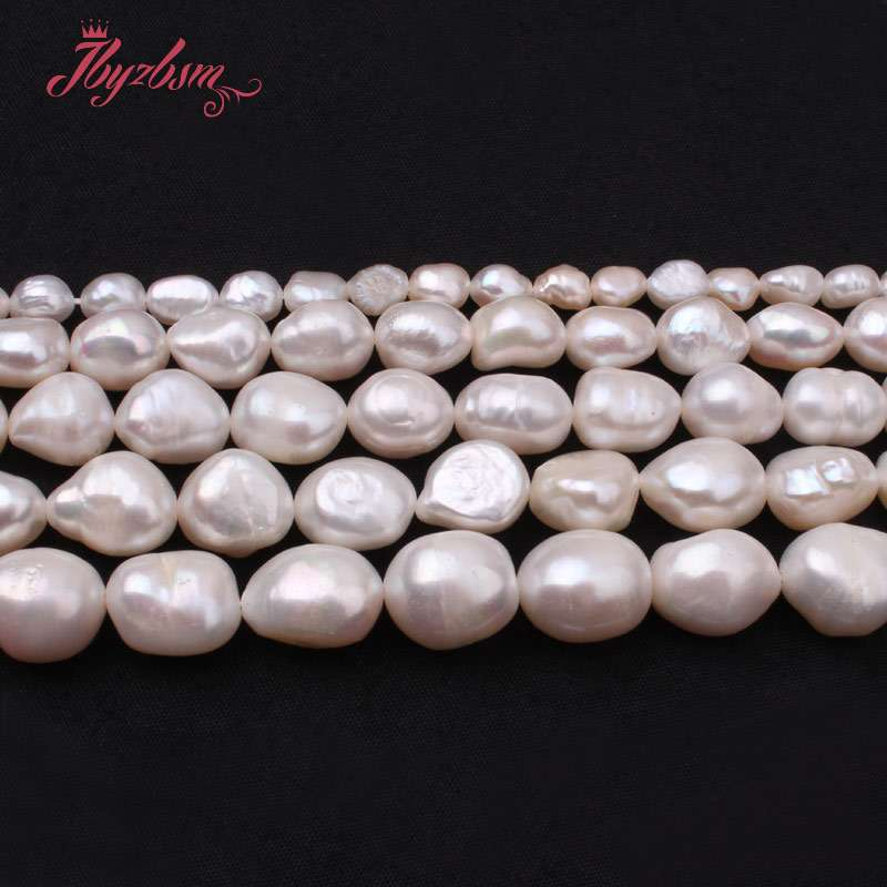 5-7/8-9/9-10/10-11mm White Potato Natural Freshwater Pearl Beads Stone For Women DIY Jewelry Making Necklace Bracelet Loose 15""
