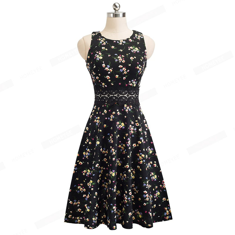 Summer Dress Women Dresses Vintage Sleeveless Dress