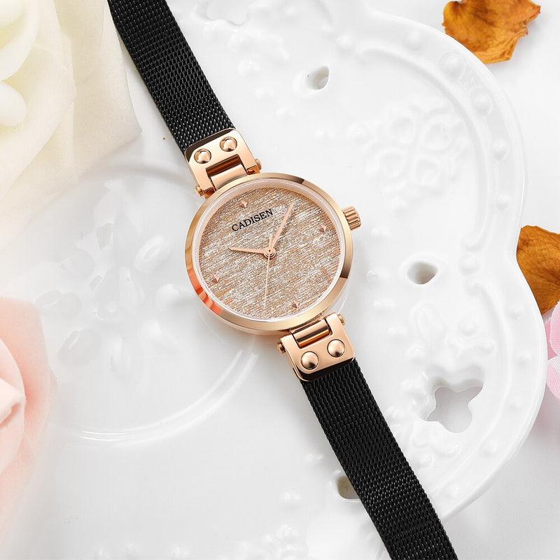 CADISEN 2019 New Women's Watches Luxury Brand Watch Women Fashion Ladies Watch Quartz Wristwatch Gold Women Watches Reloj Mujer
