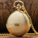 Shiled Design Skeleton Black Dial Mechanical Hand Wind Pocket Watch For Men Women Gift With Chain