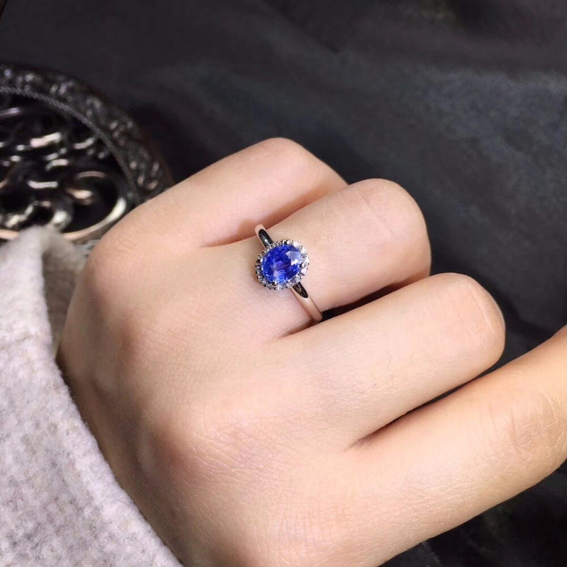 Sapphire Ring for Women with Diamonds & Gold
