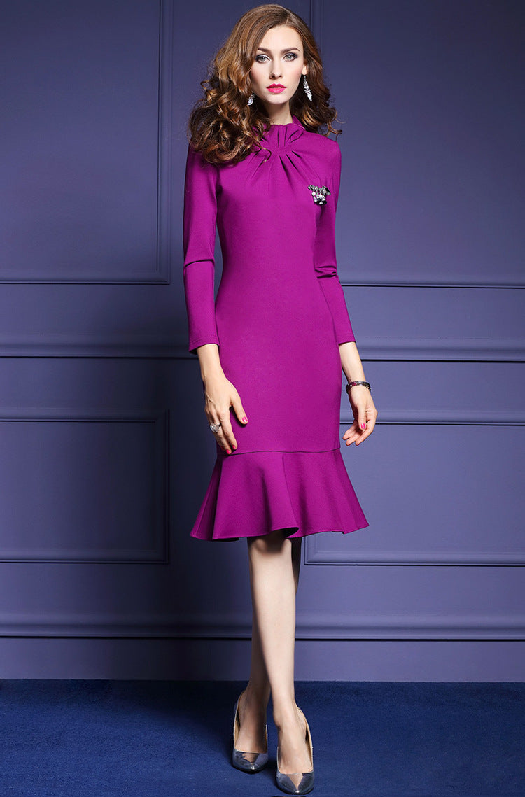 Women Autumn Office Dress Female | Robe Femme Autumne Bureau