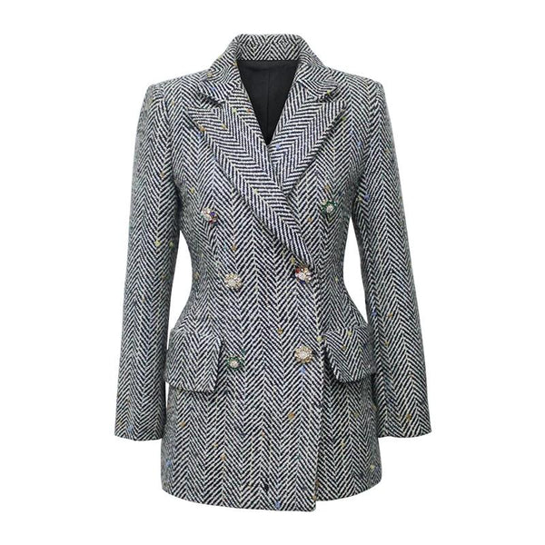 Wool Jacket for Women Long Blazer