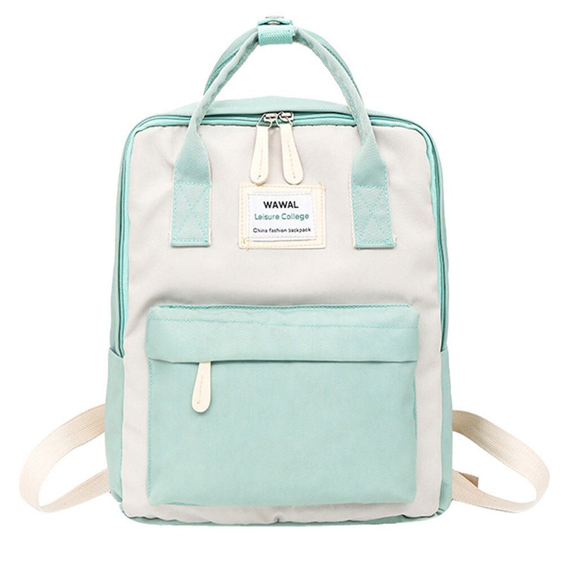 Fashion ladies bag travel backpack student canvas college backpack large capacity backpack solid color horizontal square bagY412