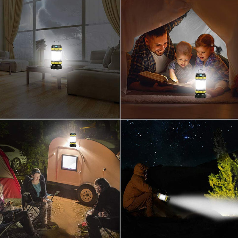 LED Camping Light USB Rechargeable Flashlite Waterproof | Torche Tente USB