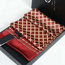 Gift Fashion Vintage Brand Plaid Mens 100% Silk Long Scarf Cravat Scarives Double Layer __ For  Spring   Autumn  Winter