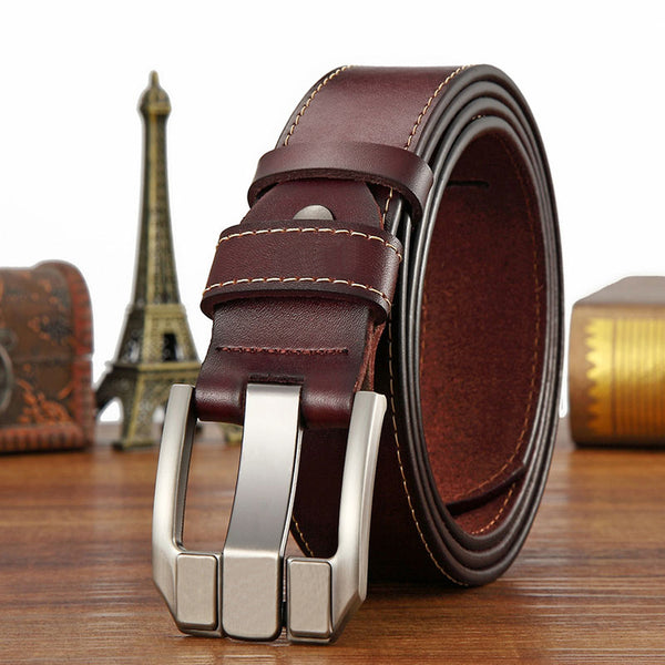 Belt For Men Real Cow Leather Business Vintage For Trousers | Ceinture Cow Cuir Homme