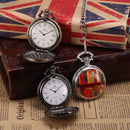 Roman Numberic Dial Retro Mens Quartz Clock Clip Fob Chain Jewelry Male Pocket Watches Gift /KSP096
