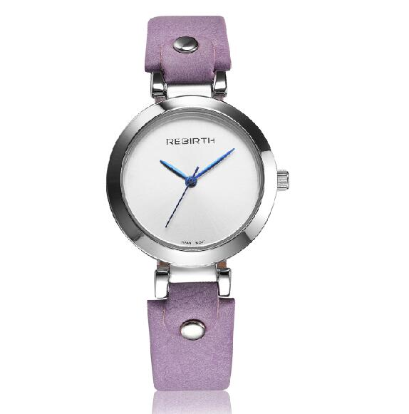 REBIRTH Brand Women Watches Luxury Quartz Leather Strap Girl Clock Female Relogio Watches Casual Ladies Wristwatches New