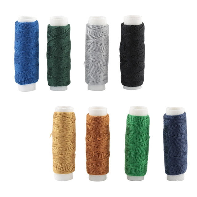 50M/roll Multi-color hand-stitched denim thick thread Sewing needle diy sewing matching polyester small roll Aiguille Couture