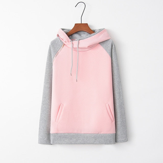 Saiqigui 2019 Autumn Winter Women Hoodies Long Sleeve Hooded Casual loose plus size Sweatshirt Pullovers Sudaderas Para Mujer