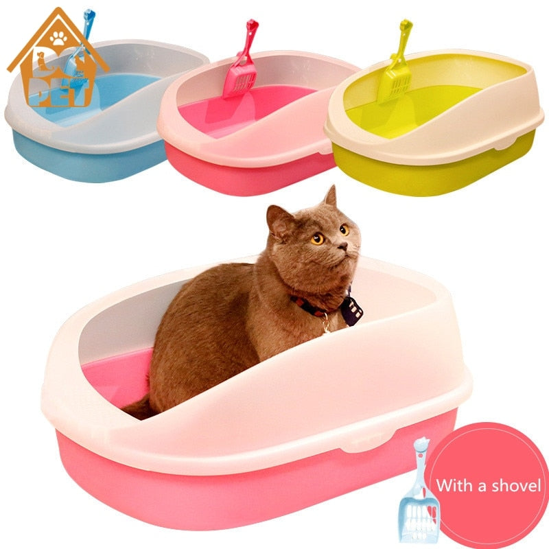 Pet Dog Toilet  Cat Litter Box Cat Dog Tray Teddy Anti-Splash Toilette with cat litter shovel Puppy Cat Indoor Home Sandbox Chat Bassin Maison
