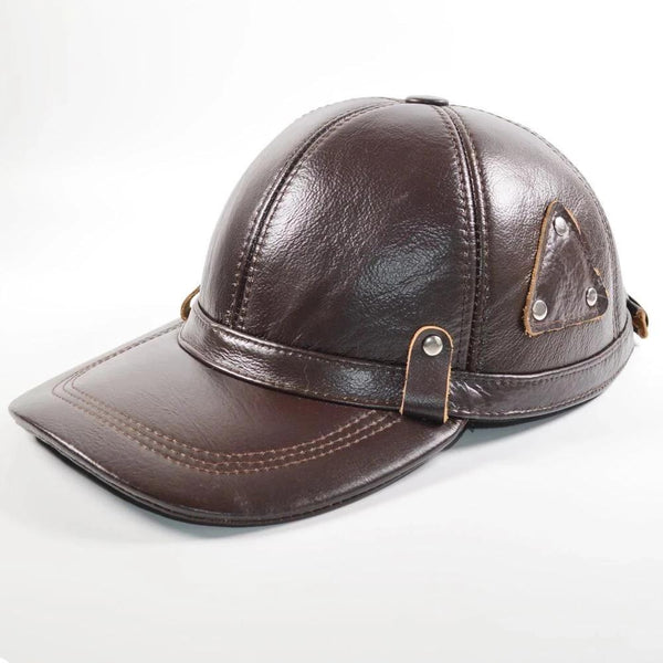 2019 New Men Real Genuine Leather Baseball Caps Brand Casual Quality Real Cowhide Leather Hat Hot Sale Real Cowhide Leather Cap