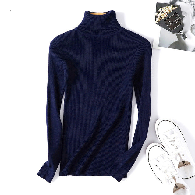 Turtleneck Sweater Women Sweaters 2019 Winter Sweater Women Pull Femme Sweater Female Knitted Pullover  Sweter Women Sweater