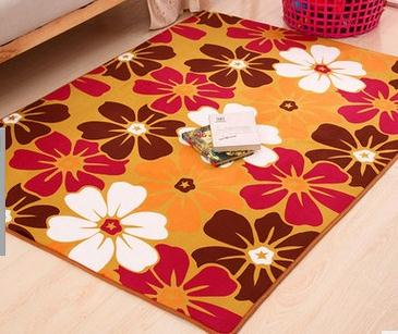 Coral Velvet Memory Foam Carpet Floor Mats Carpet the Living Room Office Bathroom anti-slip Carpet Doormat 9 Colors