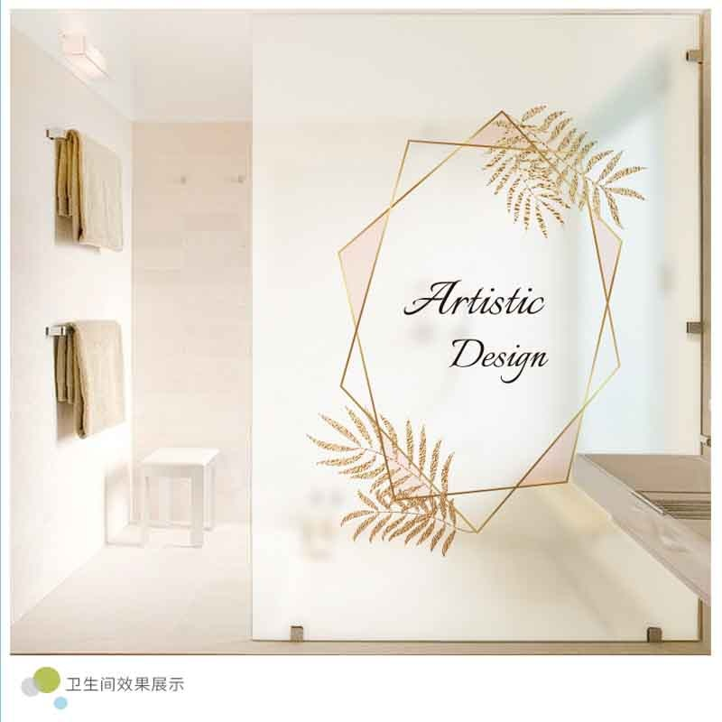 Office sliding door matte stickers transparent opaque cellophane anti-privacy glass stickers