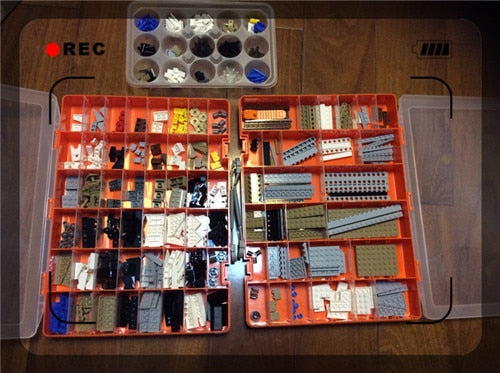 Wozniak E215 Big Activity 48 Grid Portable Toolbox Toys Building Block Accept Electronic Component Spare Parts Box Sample Box