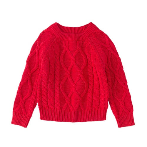 12M to 7 years baby & kids boys girls fashion cable-knit solid casual pullover sweaters children fall winter knitted sweaters